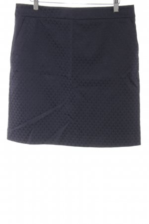 Comma Pencil Skirt dark blue graphic pattern business style
