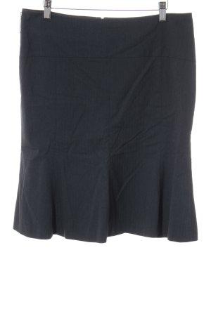 Comma Bleistiftrock dunkelblau Streifenmuster Business-Look