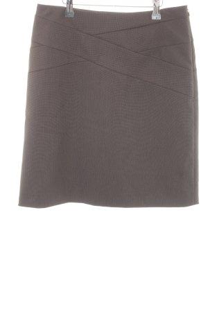Comma Kokerrok donkergrijs-wit gestippeld patroon zakelijke stijl