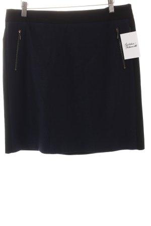 Comma Bleistiftrock schwarz-dunkelblau Elegant