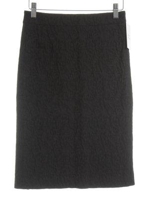 Comma Bleistiftrock schwarz florales Muster Casual-Look