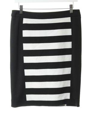 Comma Falda de tubo negro-blanco estampado a rayas estilo «business» 05b8083ff416