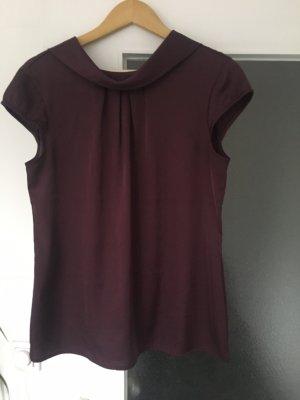 Comma Mouwloze blouse bordeaux