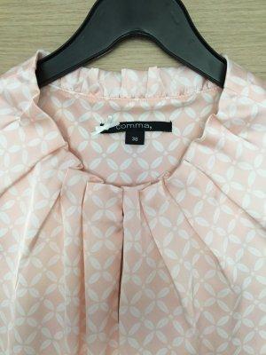 Comma Bluse rosa/weiß *Frühlingsfarbe*