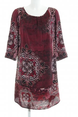 Comma Blouse Dress abstract pattern wet-look