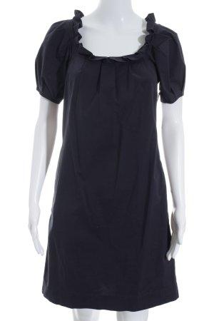 Comma Blusenkleid dunkelblau Romantik-Look