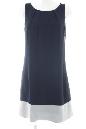 Comma Blusenkleid dunkelblau-weiß Elegant