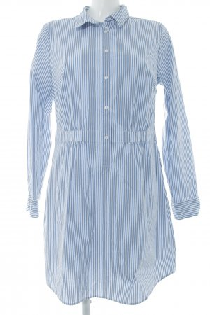 Comma Blusenkleid stahlblau-weiß Streifenmuster Casual-Look