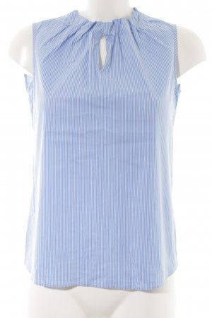 Comma Blusa blu fiordaliso motivo a righe stile professionale