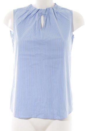Comma Blouse Top cornflower blue striped pattern business style