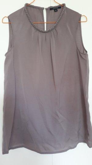 Comma Blusa senza maniche talpa-marrone-grigio Poliestere