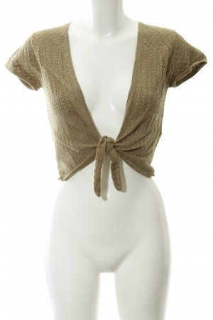 Comma Bolero gold-colored loosely knitted pattern glittery