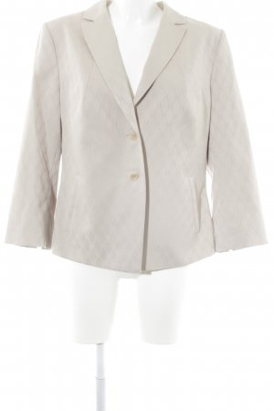 Comma Boyfriend-Blazer creme Ornamentenmuster Business-Look