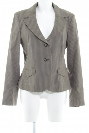 Comma Boyfriend Blazer green grey pinstripe business style