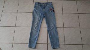 Comma Jeans boyfriend bleu coton