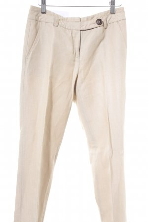Comma Bundfaltenhose beige Business-Look