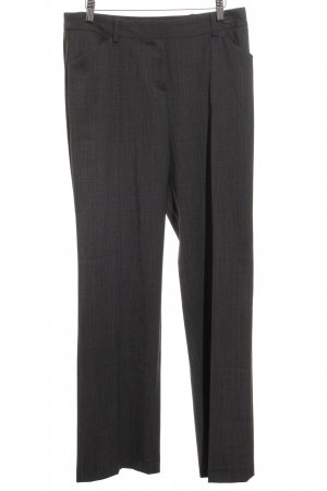 Comma Pleated Trousers dark grey flecked business style