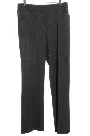 Comma Pantalon à pinces gris foncé moucheté style d'affaires