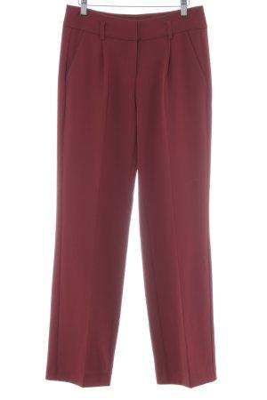 Comma Pantalon à pinces rouge carmin style décontracté