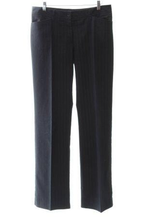 Comma Pantalon à pinces rayure fine style anglais