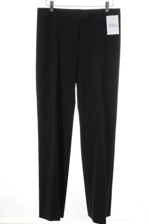 Comma Bundfaltenhose schwarz Elegant