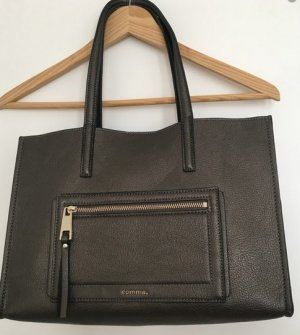 Comma Carry Bag anthracite imitation leather