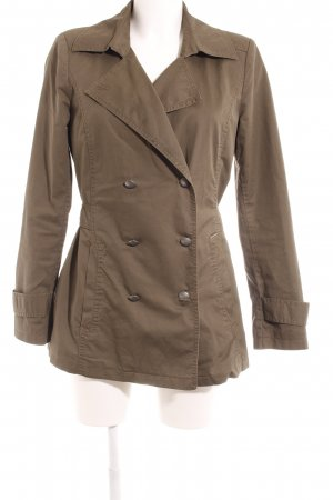 Comma Pea Jacket khaki casual look