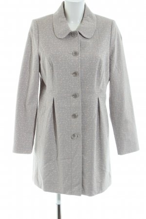 Comma Heavy Pea Coat light grey-natural white allover print casual look