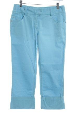 Comma Pantalone Capri azzurro-celeste stile casual