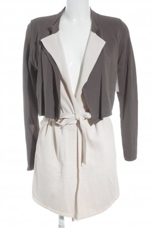 Comma Cardigan dunkelgrau-creme Casual-Look