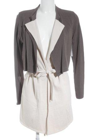 Comma Cardigan grigio scuro-crema stile casual