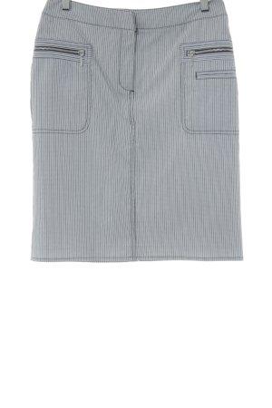 Comma Cargorock weiß-grau Streifenmuster Casual-Look