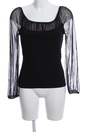 Comma Blusa tipo Carmen negro elegante