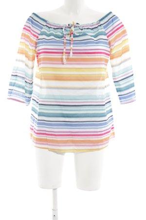 Comma Carmen Blouse striped pattern simple style