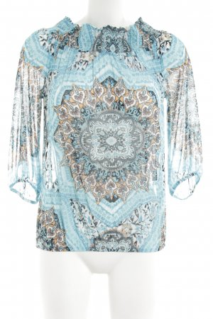 Comma Carmen shirt abstract patroon casual uitstraling