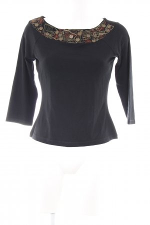 Comma Carmenshirt schwarz Casual-Look