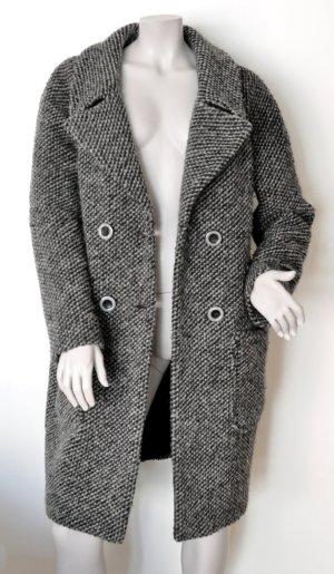 Comma Casual Identity Eggshape Mantel oversize Wolle grau Gr. 38 (40)