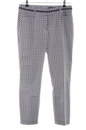 Comma Pantalon chinos gris clair-noir imprimé allover style d'affaires