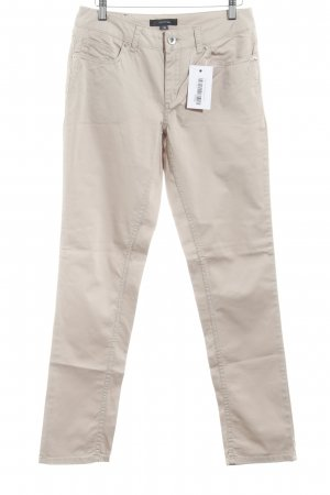 Comma Chinohose hellbeige Casual-Look