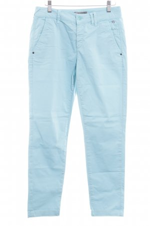 Comma Chinohose hellblau Casual-Look