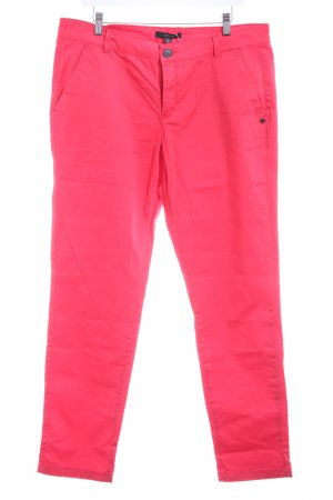 Comma Chinohose neonrot Casual-Look