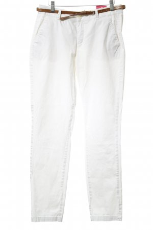 Comma Chinos white casual look