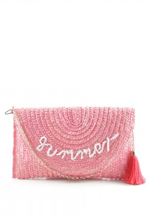 Comma Clutch apricot embroidered lettering beach look