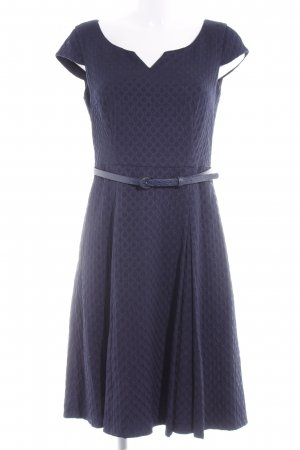 Comma Cocktailkleid dunkelblau-grau Punktemuster Elegant
