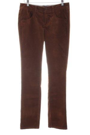 Comma Pantalón de pana marrón look casual
