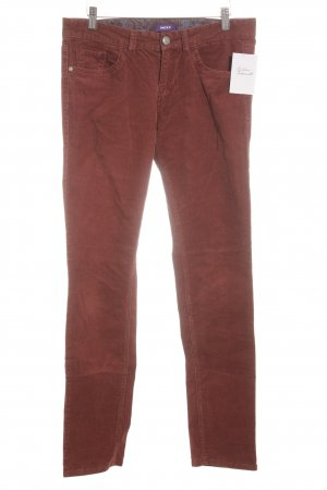 Comma Cordhose rostrot Casual-Look