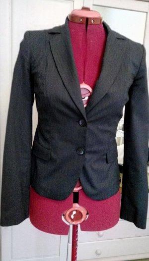 Comma Damen Rock Anzug Kostüm Blazer Business grau XS 34 wNEU