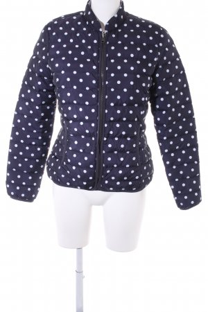 Comma Down Jacket dark blue-white spot pattern casual look