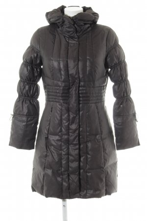 Comma Down Coat black quilting pattern casual look
