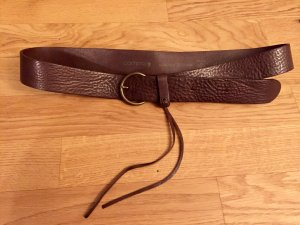Comma Leather Belt bronze-colored-dark brown